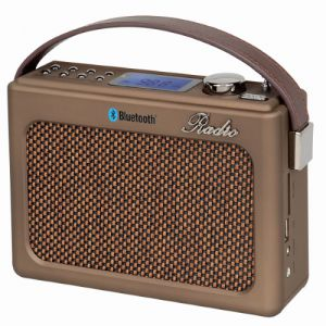 רמקול נייד משולב APEX רדיו בעיצוב רטרו דגם AP1210