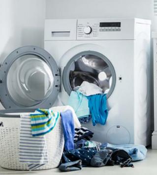 הפעלת מכונת כביסה